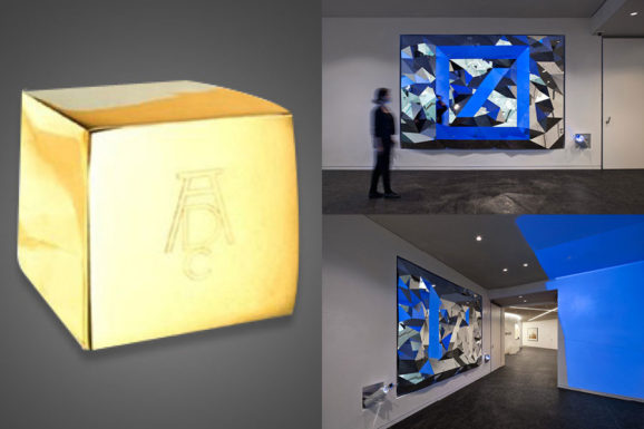 "Golden Cube ADC New York for ""Anamorphic Mirror"""