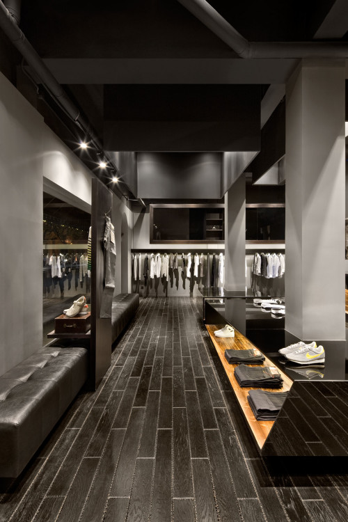 Menswear boutique Aegis in downtown Shanghai, designed by COORDINATION ASIA.