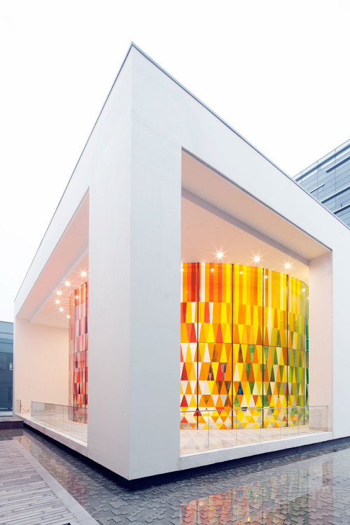The Rainbow Chapel at the Shanghai Museum of Glass, designed by COORDINATION ASIA.