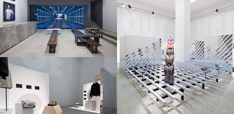 Retail space Nike Studio Beijing, designed by Shanghai firm COORDINATION ASIA.