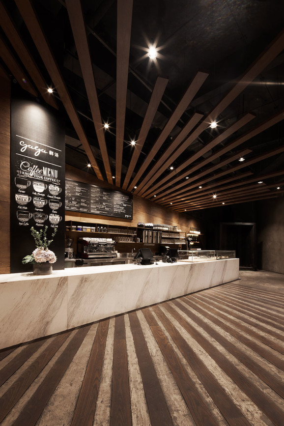 Gaga Cafe in Shenzhen's KKmall, designed by Shanghai agency COORDINATION ASIA.