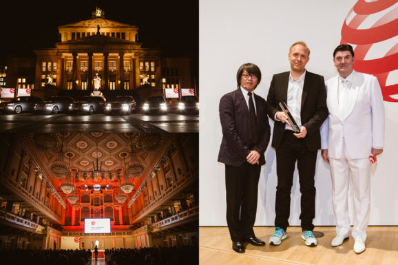 Tilman Thürmer accepts Red Dot Best of the Best in Berlin