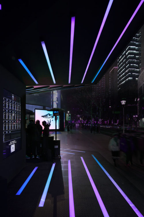 Nike+ Run Club on Huaihai by COORDINATION ASIA in downtown Shanghai